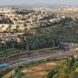 Aerial view on highway. Jerusalem, Israel. — Stock Photo #9577136