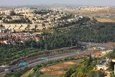 公路上的鸟瞰图。耶路撒冷以色列. — 图库照片