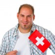 Young man with swiss flag — Stock Photo #10684559