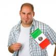 Young man with mexican flag — Stock Photo