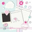 Scrapbook design elements - Stok Vektör