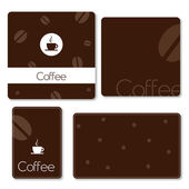 Coffee backgrounds with copy space — Stock Vector