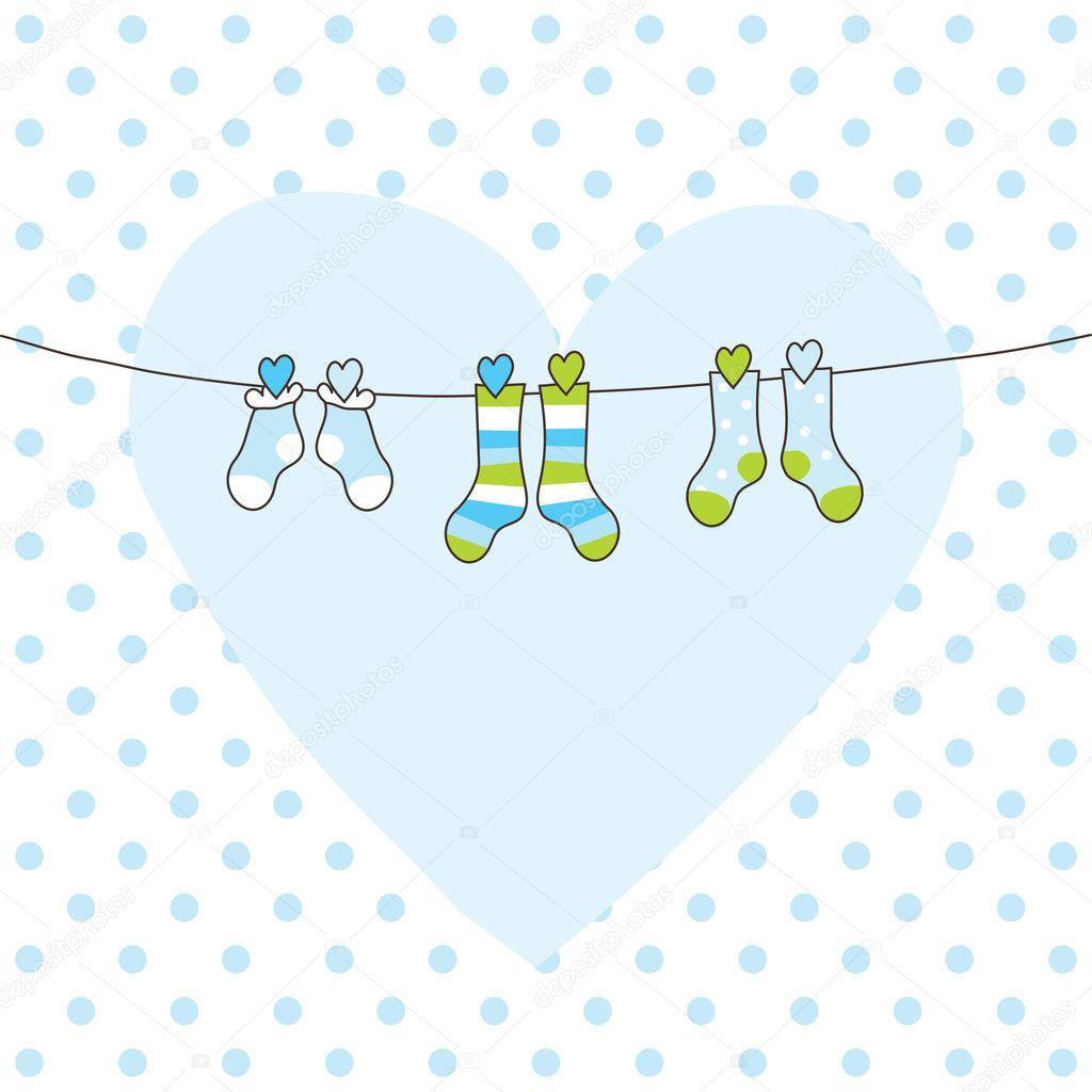 Baby arrival card — Stock Vector © LeonART #10206165