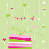 Birthday card with copy space — Stock Vector