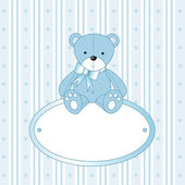 Teddy bear for baby — Stock Vector
