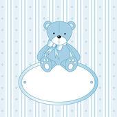 Teddy bear for baby — Stock Vector