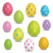 Easter eggs — Stock Vector #8636654