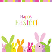 Colorful easter card — Vector de stock