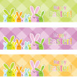 Stock Vector: Easter web banners