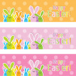 Stock Vector: Set of colorful Easter web banners