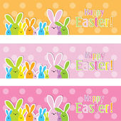 Set of colorful Easter web banners — Stock Vector