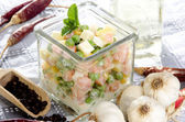 Fresh home made french salad — Stock Photo