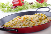 Spanish paella with organic vegetables — Stock Photo
