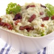 Mashed potato with fat bacon — Stock Photo