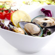 Green lipped mussels with salad - Lizenzfreies Foto
