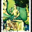 Vintage postage stamp. Asavari Ragini. - Stock Photo