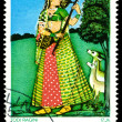Vintage postage stamp. Todi Ragini. — Stock Photo