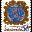 Stock Photo: Vintage postage stamp. Coat of Arms MladBoleslav.