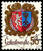 Vintage postage stamp. Coat of Arms Hrob. — Stock Photo
