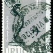 "Vintage  postage stamp. "" Flight"" from Monument to Fallen Aviato - Stock Photo"