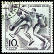 Stock Photo: Vintage postage stamp. Basketball.