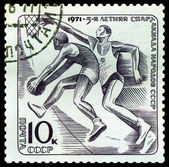 Vintage postage stamp. Basketball. — Stock Photo