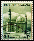 Vintage postage stamp. Mosque of the Sultan Husseyn. — Stock Photo