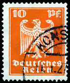 Vintage postage stamp. German Eagle. 10 pf. — Stock Photo