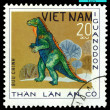 Vintage  postage stamp.  Iguanodon. — Stock Photo