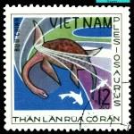 Vintage postage stamp. Plesiosaurus. — Stock Photo