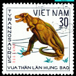 Vintage  postage stamp.  Tirannosaurus  Rex. — Stock Photo