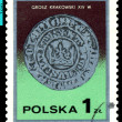 Vintage  postage stamp. Cracow Groszy. — Stock Photo