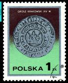 Vintage posta pulu. cracow groszy. — Stok fotoğraf