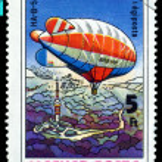 Постер, плакат: Vintage postage stamp Airship HA B 501