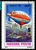 Vintage postage stamp. Airship HA-B-501. — Stock Photo