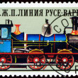 Vintage  postage stamp.  Antique  locomotive. 4. — Stock Photo