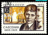 Vintage postage stamp. Poet S. Esenin. — Stock Photo