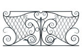 Wrought fence of the balcony, gallery. — Stock Photo