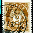 Vintage  postage stamp. Post. Norway. — Stock Photo