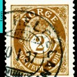 Vintage  postage stamp. Post. Norway. - Stock Photo