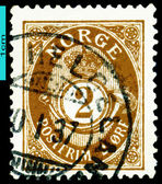 Vintage postage stamp. Post. Norway. — ストック写真