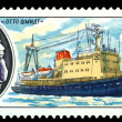 "Stock Photo: Vintage postage stamp. Ship "" Otto Shmidt""."