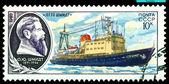 """Vintage briefmarke. schiff """"otto schmidt"""". — Stockfoto"""