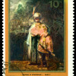 Stamp.  Rembrandt.  David and Jonathan. — Stock Photo