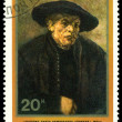 Stamp. Rembrandt. Rembrandt's brother Adrian. — Stock fotografie #9095094