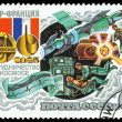 Stamp. Intercosmos USSR – France, Space Programm. — Stock Photo #9219860
