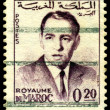 Vintage  postage stamp. King of Morocco Hassan II. — Stock Photo