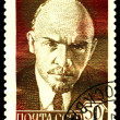 Vintage postage stamp. Photography Lenin. — Stock Photo