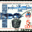 Vintage  postage stamp. Soyuz Camera and  Spase Complex. — Foto Stock