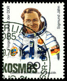 Vintage frimärke. sigmund jahn. — Stockfoto
